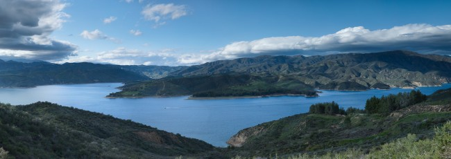 Panorama lake view